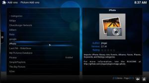 Enlarge XBMC Media Center Screenshot