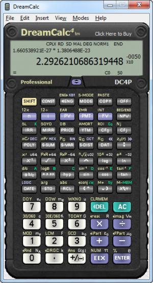 Enlarge DreamCalc Professional Edition Screenshot