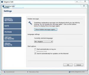 Enlarge Steganos Safe Screenshot