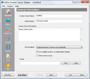 Enlarge Ultra Screen Saver Maker Screenshot