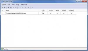 Enlarge Easy File Locker Screenshot