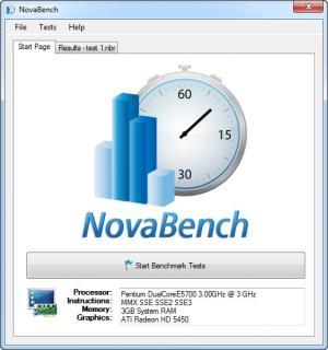 Enlarge NovaBench Screenshot
