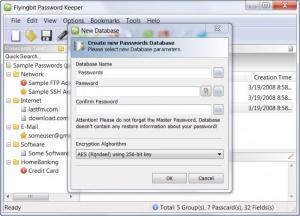 Enlarge FlyingBit Password Keeper Screenshot