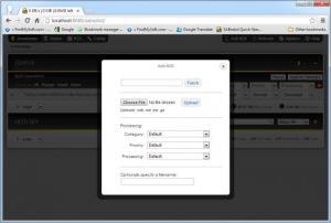 Enlarge SABnzbd Screenshot