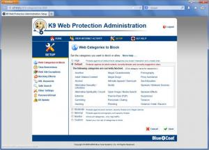 Enlarge K9 Web Protection Screenshot