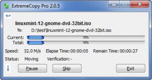 Enlarge ExtremeCopy Pro Screenshot
