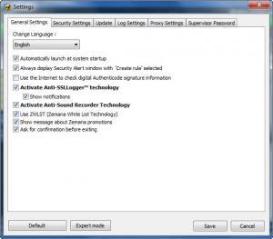 Enlarge Zemana AntiLogger Screenshot