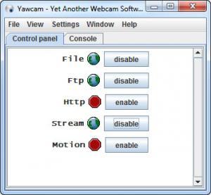 Enlarge Yawcam Screenshot