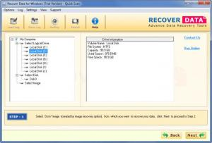 Enlarge Recover Data for FAT & NTFS Screenshot