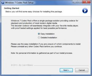 Enlarge Windows 7 Codec Pack Screenshot