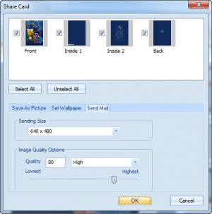 Enlarge Greeting Card Builder Screenshot