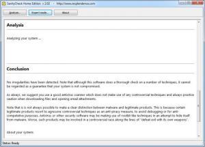 Enlarge SanityCheck Screenshot