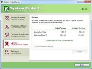Enlarge System Protect Screenshot