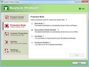 Enlarge System Protect Screenshot
