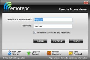 Enlarge Remote Access Viewer Screenshot