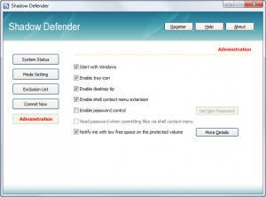 Enlarge Shadow Defender Screenshot