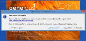 Enlarge Geneious Screenshot