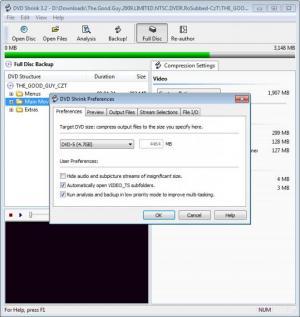 Enlarge DVD Shrink Screenshot