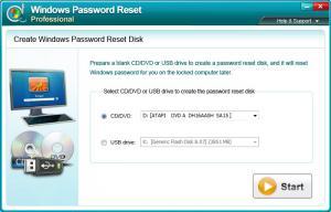 Enlarge Windows Password Reset Pro Screenshot