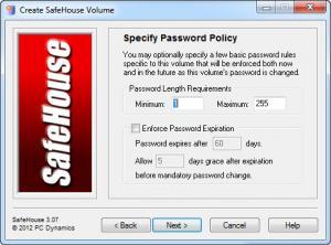 Enlarge SafeHouse Professional Edition Screenshot