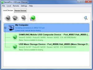 Enlarge USB Over Ethernet Screenshot