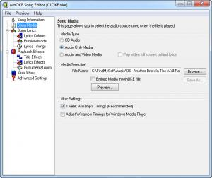 Enlarge winOKE Screenshot