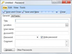 Enlarge Efficient Password Manager Free Screenshot