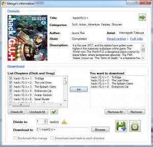 Enlarge DomDomSoft Manga Downloader Screenshot