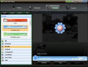 Enlarge Moyea Web Player Screenshot