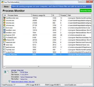 Enlarge Exe File Information Screenshot