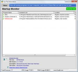Enlarge Exe File Information Screenshot