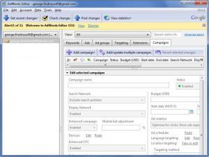 Enlarge AdWords Editor Screenshot