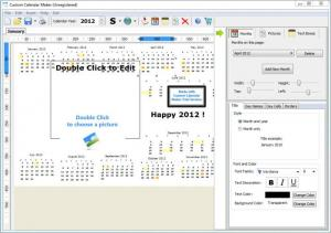Enlarge Custom Calendar Maker Screenshot