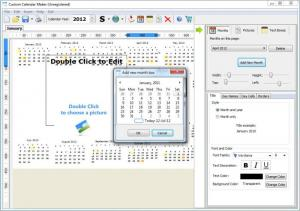 Enlarge Custom Calendar Maker Screenshot