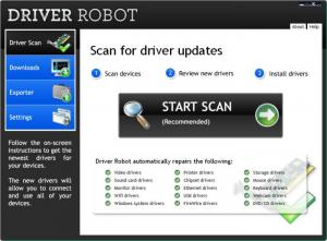 Enlarge Driver Robot Screenshot