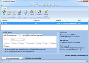 Enlarge Sync Now! Professional Screenshot
