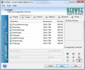 Enlarge Instant Gallery Maker Screenshot