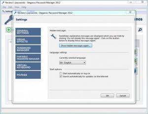 Enlarge Steganos Password Manager Screenshot