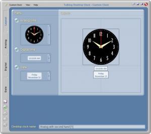 Enlarge Talking Desktop Clock Screenshot