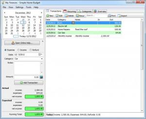 simple home budget software free download