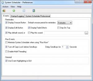 Enlarge System Scheduler Free Screenshot
