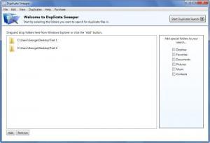 Enlarge Duplicate Sweeper Screenshot