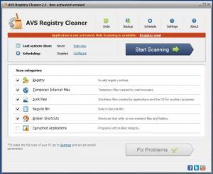 Enlarge AVS Registry Cleaner Screenshot