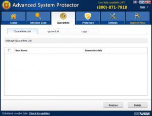 Enlarge Advanced System Protector Screenshot