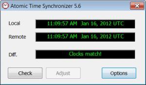 Enlarge Atomic Time Synchronizer Screenshot