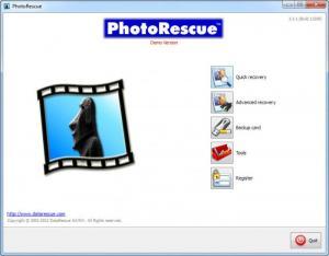 Enlarge PhotoRescue Wizard Screenshot