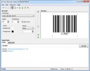 Enlarge Easy Barcode Creator Screenshot