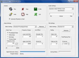 Enlarge AudioNoise Screenshot