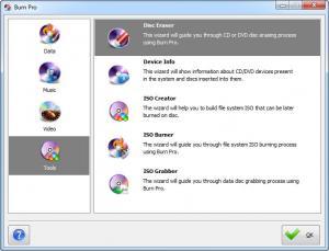 Enlarge BurnPro Screenshot