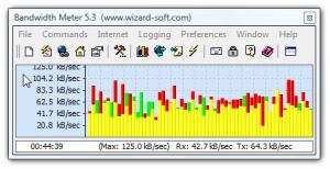 Enlarge Bandwidth Meter Screenshot